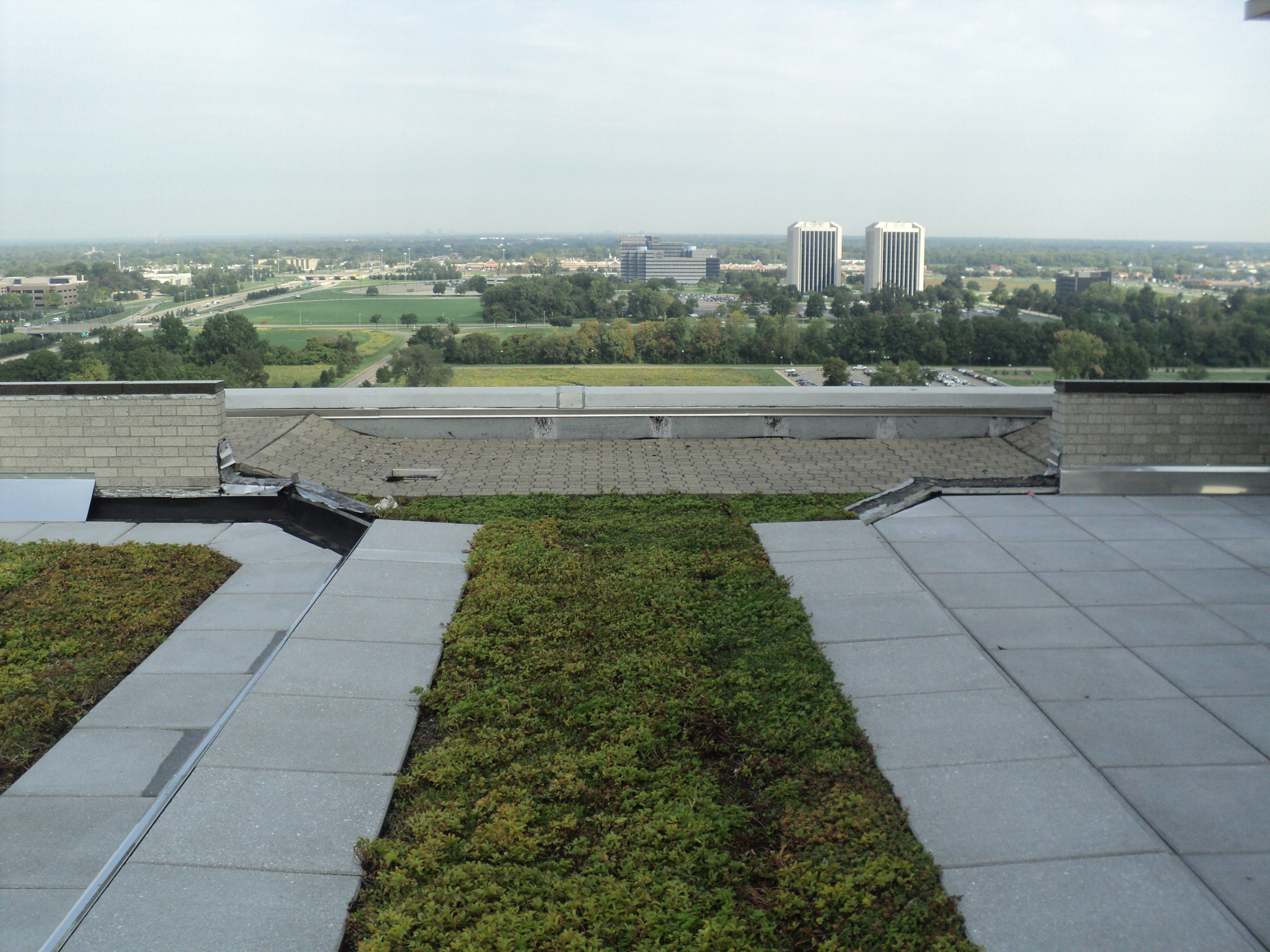 Green roof membrane drainage systems for Roof drainage system